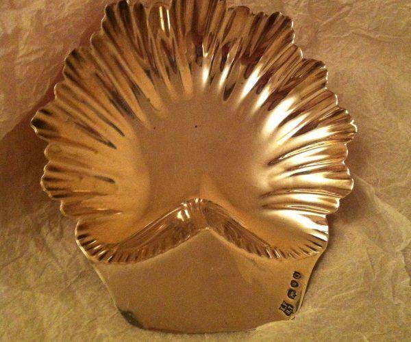Victorian silver dish London 1891 E.F H.T
