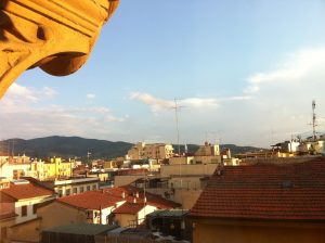 View from bedroom window at Hotel Portici