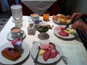 breakfast day two at hotel portici