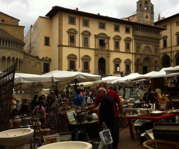 piazza grande market fair arezzo