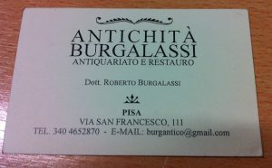 Dr. Roberto Burgalassi business card