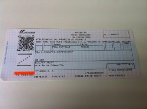train ticket from Pisa to Arezzo