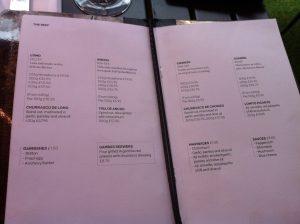 Gaucho Steak Piccadilly London menu