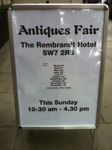 Antiques Fair The Rembrandt Hotel