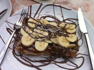 Kensington Creperie Banana with Nutella sauce
