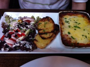 Lasagna from Windsor Castle Pub