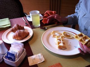 Breakfast at hotel borobudur