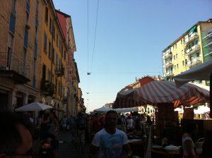 Buzzing Milan market