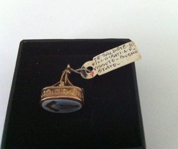 Masonic gold intaglio seal