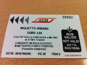 Milan Metro ticket
