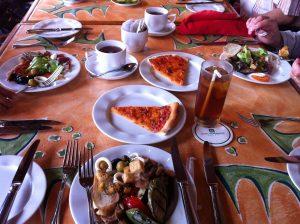 Lunch buffet style at Bruschetta