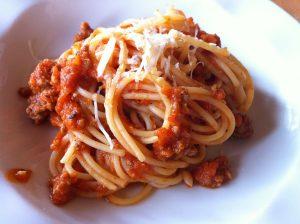 spaghetti bolognese at bruschetta hotel borobudur