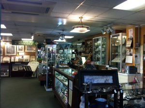 Numerous stalls inside the Antique on High