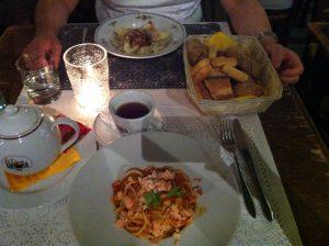 Dinner at Bergamo Citta Alta