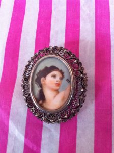 Italian Hand Painted Brooch