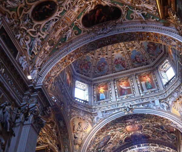 Santa Maria Maggiore Bergamo ceiling