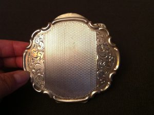 czech silver compact antique