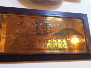 In memory of Sir Thomas Stamford Raffles