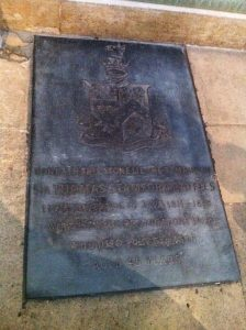 Beneath this stone lie the remains of Sir Thomas Stamford Raffles, Lieutenant governor of Java and founder of Singapore