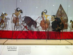 A scene from the West Javanese wayang performance