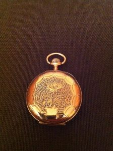 intricate antique pocket watch