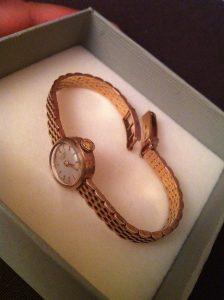 longines 9ct gold bracelet