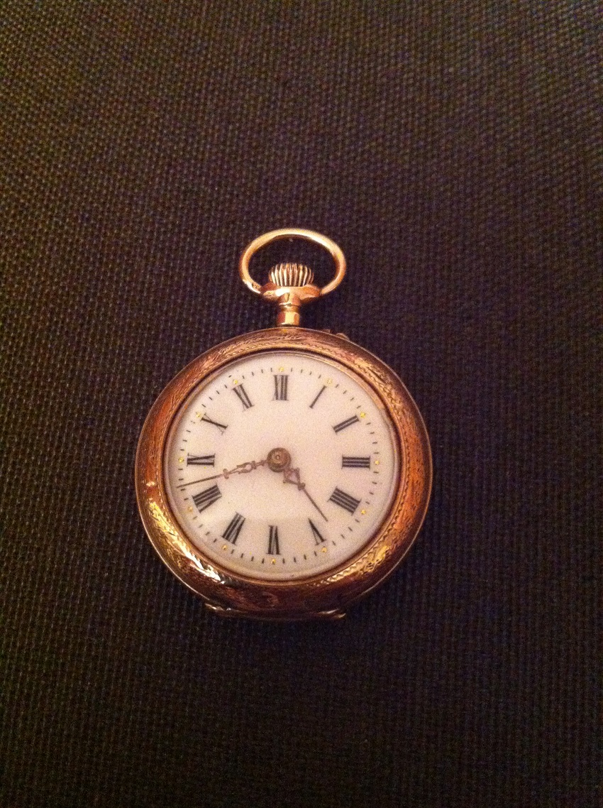 small antique swiss pocket watch
