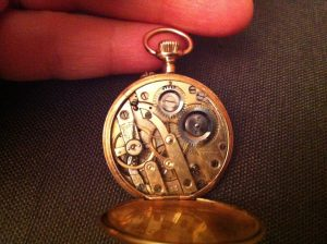 small ladies 14ct pocket watch