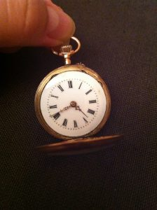 swiss 14k ladies pocket watch