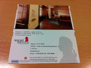 mozart house ticket
