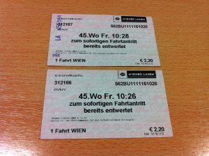 vienna metro ticket