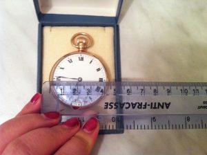 1920s Dennison case pocket watch 9ct