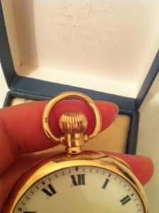9ct hallmark solid gold pocket watch