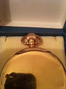 ALD DQ hallmark Dennison 9ct pocket watch