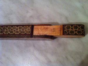 Antique Khatam Persian pencil case