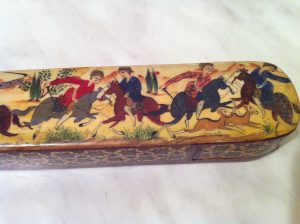Antique Perian hunting scene