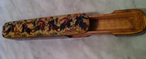 Antique Persian hand painted pencil case