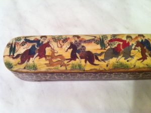 Hunting scene pencil case khatam