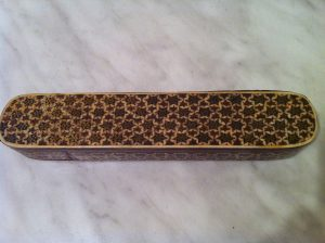 Khatam inlay wood pencil case