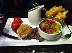Sirloin Steak at Hilton Islington Hotel