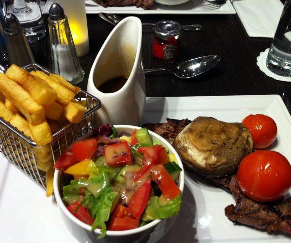 Sirloin steak Hilton Islington