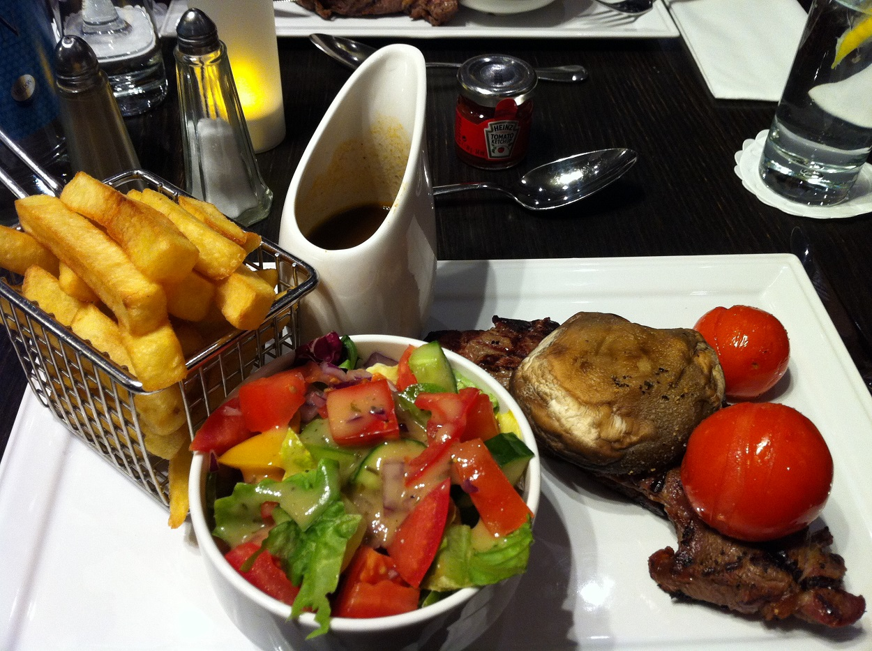 Sirloin steak Hilton Islington
