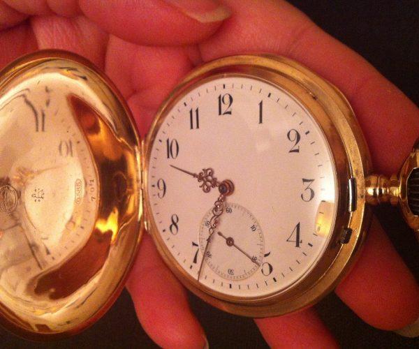 585 pocket watch 14k gold