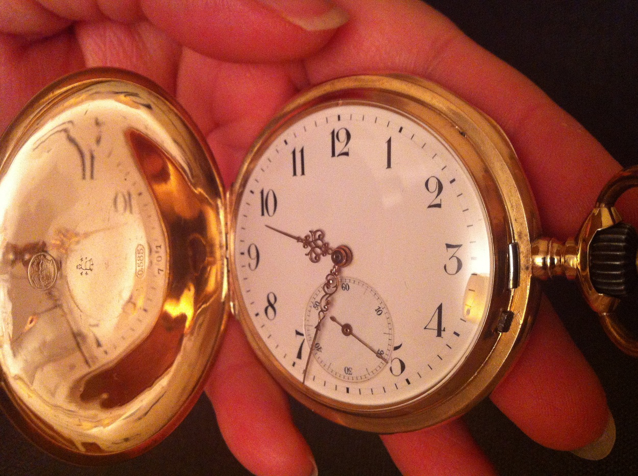 585 pocket watch 14k gold