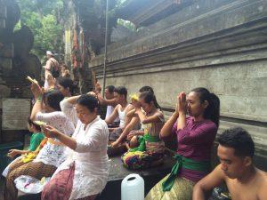 Balinese pray