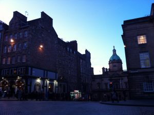 Pretty Royal Mile/Edinburgh at dusk