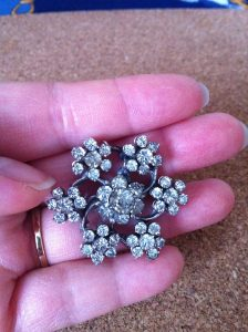 Antique Brooch Flower Design