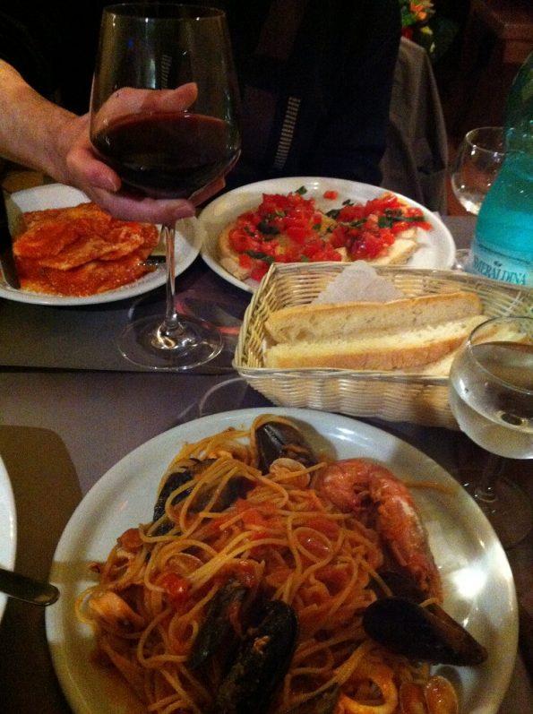 Seafood pasta in Alghero