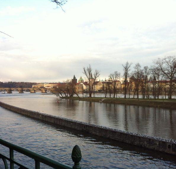 Beautiful view of River Vltava