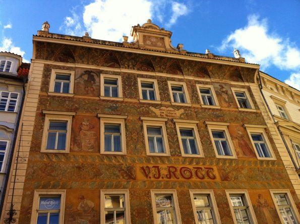 Hand painted building in Prague very pretty